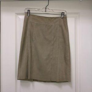 Elie Tahari Suede Skirt
